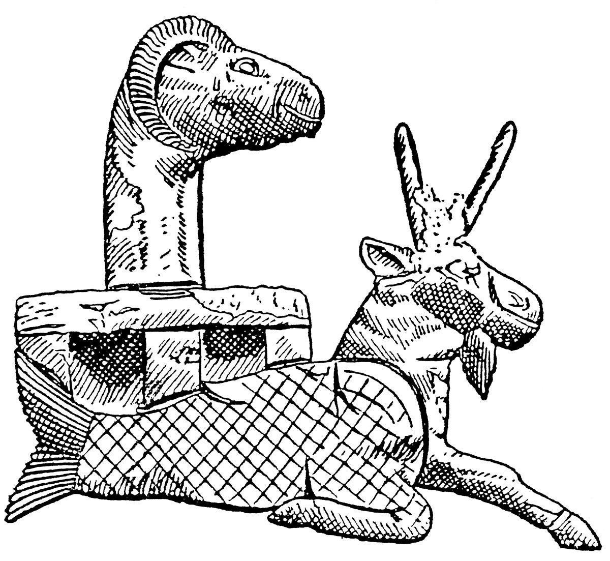 Ziegenfisch in mesopotamischer Darstellung